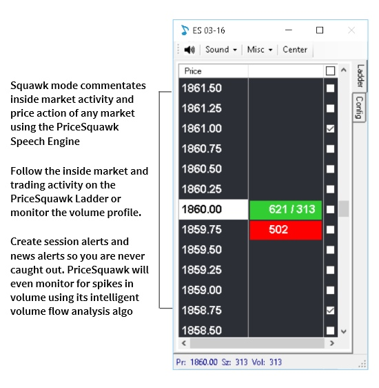 PriceSquawk | Audible Market Technology